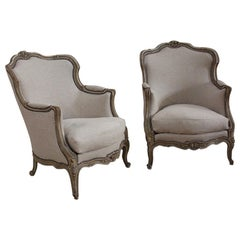 Pair of French Painted Armchairs, circa 1930s