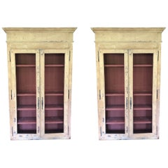 Pair of French Painted Cabinets