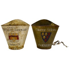 Pair of French Painted Tole Wine Buckets