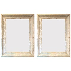 Pair of French Painted Wood Mirrors