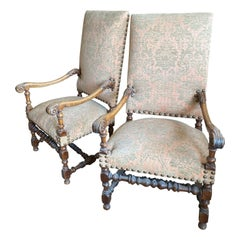 Pair of French Pastel Chairs, circa 1850