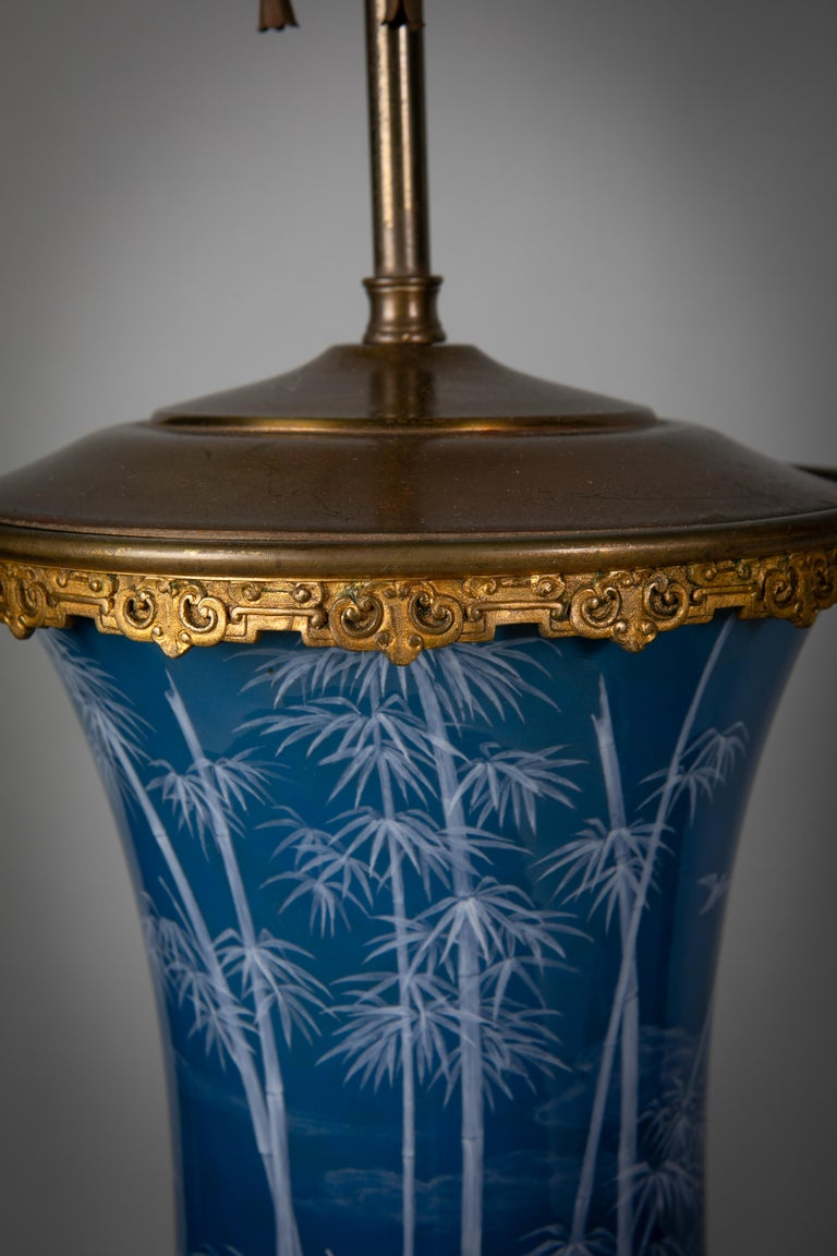 Late 19th Century Pair of French Pate-Sur-Pate Vases Mounted as Lamps, circa 1880 For Sale