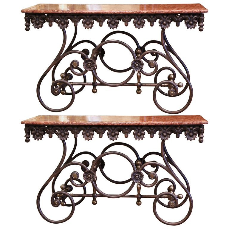 Pair of French pastry tables, ca. 2000, offered by Country French Interiors
