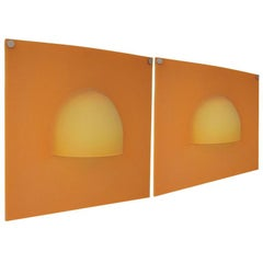 Pair of French Pop Art 1960s Rubber Sconces