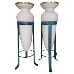 Pair of French Porcelain Lamps
