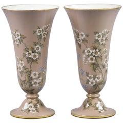 Pair of French Porcelain Pâte-sur-Pâte Vases, circa 1880