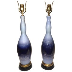 Pair of French Porcelain Table Lamps