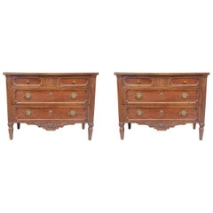 Pair of French Provencal Directoire Style Commodes