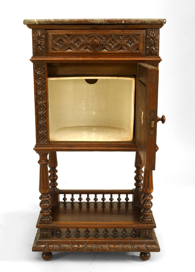 Pair of French Provincial Brittany Style Bedside Commodes In Good Condition For Sale In New York, NY