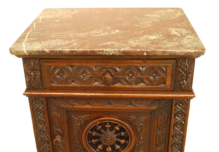 18th Century Pair of French Provincial Brittany Style Bedside Commodes For Sale