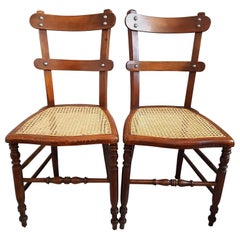Pair of French Provincial Caned Chairs