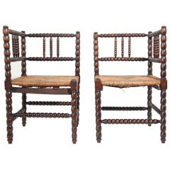 Pair of French Provincial Corner Chairs