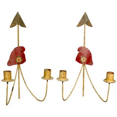 Pair of French Revolution Theme Sconces