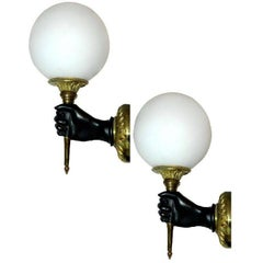 Pair of French Sconces by Andre Arbus.2 pairs available.priced by pair