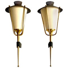 Pair of Miod Century French Sconces by Maison Arlus