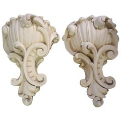 Pair of French Serge Roche Inspired Plaster Sconces