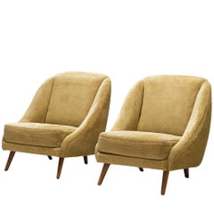 Pair of French Shell Club Chairs