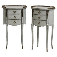 Pair of French Side Tables, Bronze Mounted