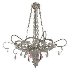 Pair of French Silver Plated Chandeliers, Sold Individually