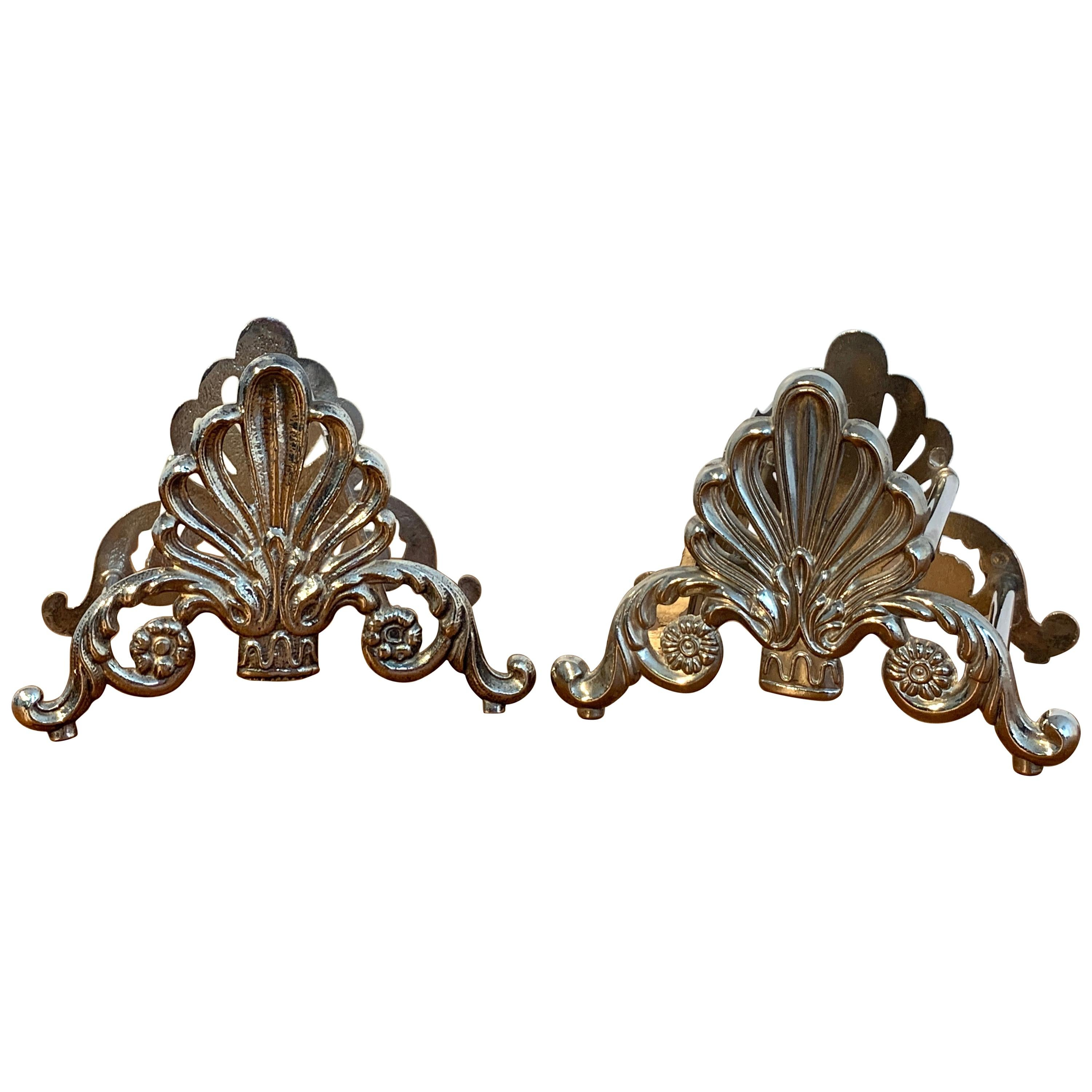 Pair of French Silver Plated Neoclassical Knife Rests