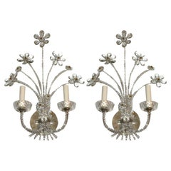 Pair of French Silver Plated Sconces
