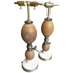 Pair of French Siphon Bottle Lamps, 19th Century
