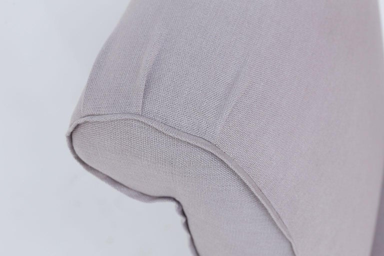 Pair of French Slipper Chairs in Lavender Linen 1