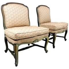 Pair of French Slipper Chairs