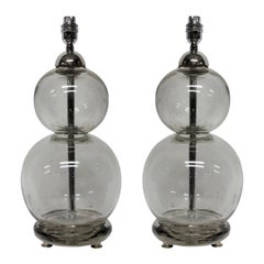 Pair of French Soda Siphon Lamps
