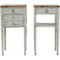Pair of French Stone Topped Side Tables
