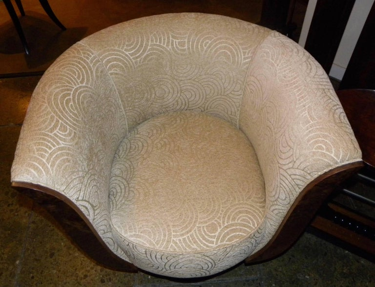 Pair of French Style Art Deco Swivel Chairs For Sale 4