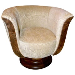 Pair of French Style Art Deco Swivel Chairs