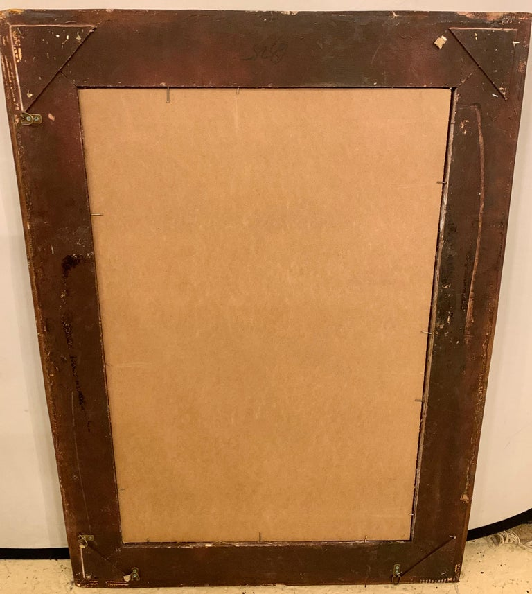 Pair of French Style Wall, Console or Pier Mirrors. Gilt Gesso and Wooden.  For Sale 11