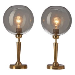 Pair of French Table Lights in Brass