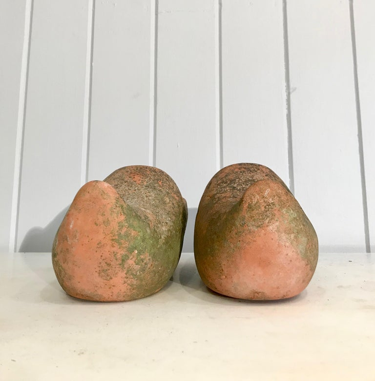 20th Century Pair of French Terracotta Dutch Clog Planters For Sale