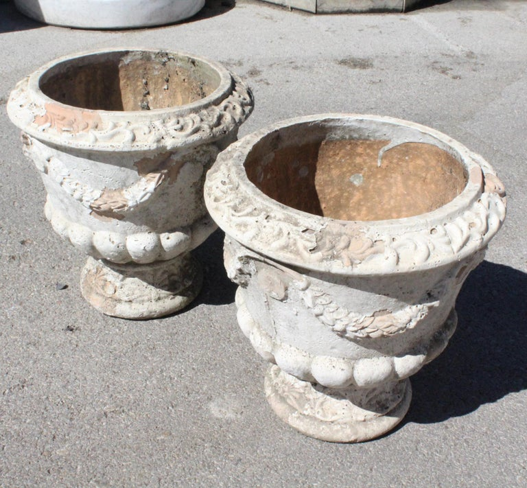 Pair of French Terracotta Garden Planters For Sale 3