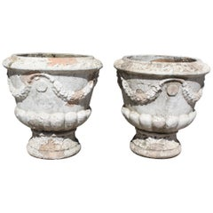 Pair of French Terracotta Garden Planters