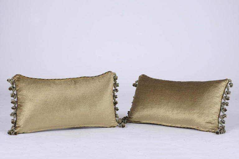 Fabric Pair of French Throw Pillows For Sale