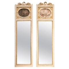 Pair of French Trumeau Mirrors