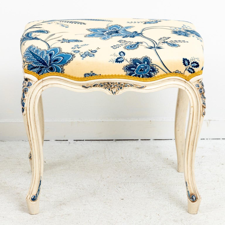 Hollywood Regency Pair of French Upholstered Benches For Sale
