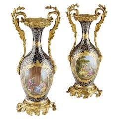 Pair Of French Vases by Joseph Rene Binet