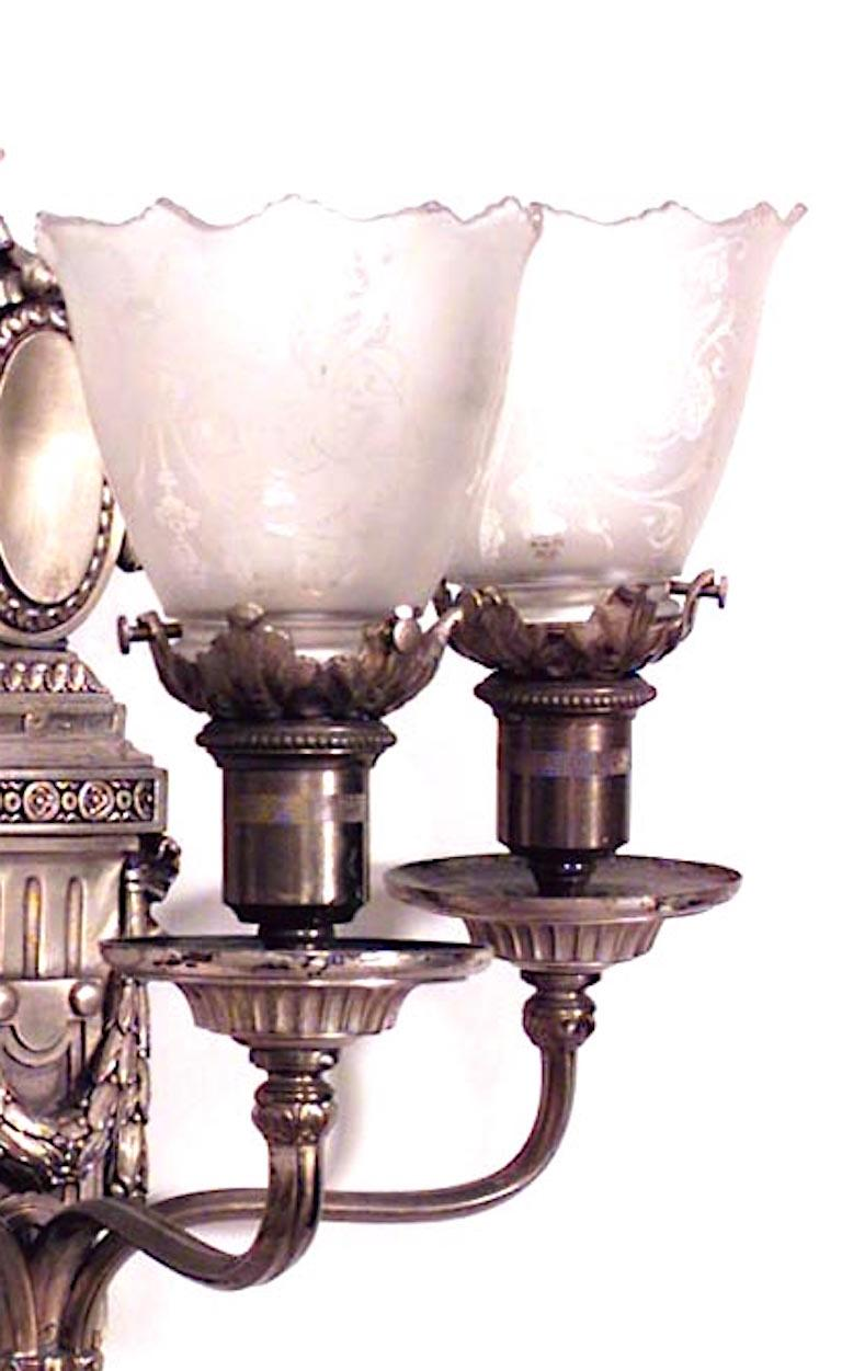 20th Century Pair of French Victorian Style Wall Sconces For Sale