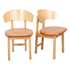 Pair of French Vintage Art Deco-Style Side Chairs