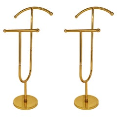 Pair of French Vintage Brass Valets
