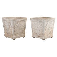 Pair of French Vintage Concrete Planters