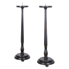 Pair of French Wooden Candlesticks, 1900s