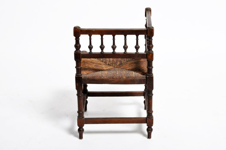 Pair of French Wooden Corner Chairs For Sale 5