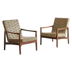 Pair of French Woven Rope Chairs