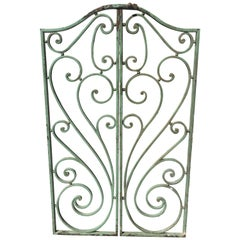 Pair of French Wrought Iron Beaux Arts-Style Gates with Mounting Hardware #1