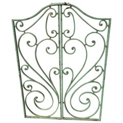 Pair of French Wrought Iron Beaux Arts-Style Gates with Mounting Hardware #2